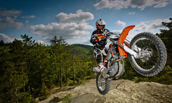 KTM off road motorcycle tour Image